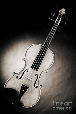 Photograph - Photograph Of A Viola Violin Spotlight In Sepia 3375.01 by M K  Miller