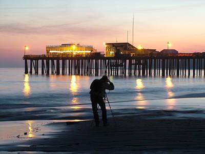 Artist Working Photograph - Photographer At The Capitola Pier by Scott Lenhart