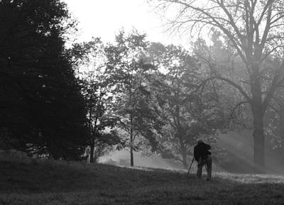 Art Print featuring the photograph Photographer In The Mist by Ed Cilley
