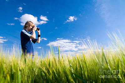 Aperture Photograph - Photographer Taking Pictures by Michal Bednarek