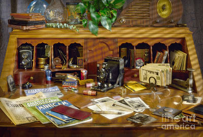 Photograph - Photographers Desk 1939 by Martin Konopacki