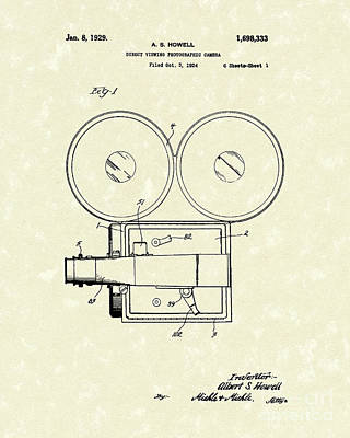 Photographic Camera 1929 Patent Art Art Print by Prior Art Design