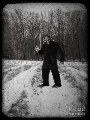 Fun Show Photograph - Photographic Evidence Of Big Foot by Edward Fielding