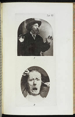 Photographs By Dr Duchenne Art Print by British Library