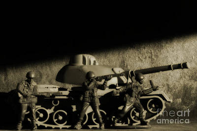 Realistic Miniatures Photograph - Photos From The Front World Wars Tank by Randy Steele