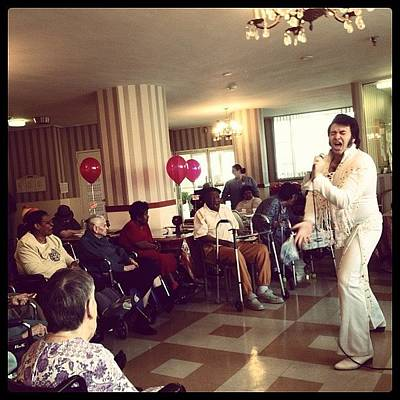 Elvis Photograph - Photoshoot At A Nursing Home And Elvis by Craig Kempf