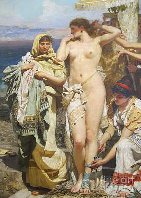Partial Nude Painting - Phryne At The Festival Of Poseidone by Pg Reproductions