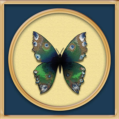 Painting - Phthalo Butterfly by Deborah Runham