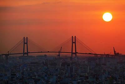 Ho Chi Minh City Photograph - Phu My Bridge At Sunrise, Ho Chi Minh by David Wall