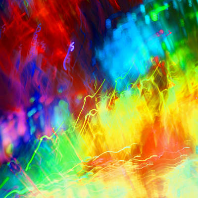 Rainbow Colors Photograph - Physical Graffiti 1full Image by Dazzle Zazz
