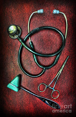 Physician's Tools  Art Print by Lee Dos Santos