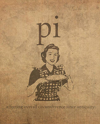 Pi Affecting Overall Circumference Since Antiquity Humor Poster Art Print by Design Turnpike