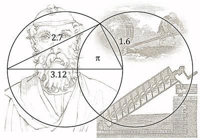 Pi Archimedes Art Print