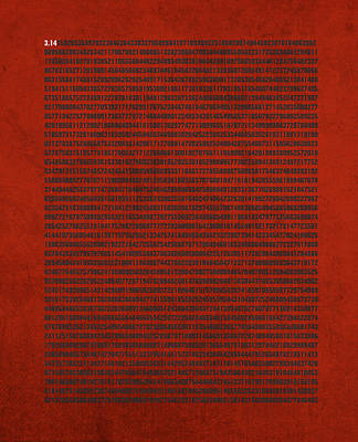 Pi Number Thousands Of Digits Cool Math Poster Art Art Print by Design Turnpike