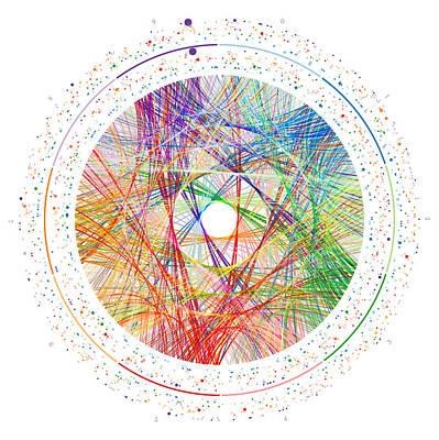 Digital Art - Pi Transition Paths by Martin Krzywinski