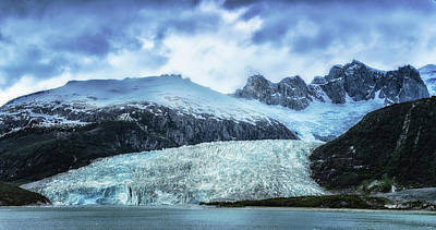 Beagle Photograph - Pia Glacier In The Pia Fjord, Beagle by Panoramic Images