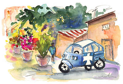 Sicily Painting - Piaggio In Palermo by Miki De Goodaboom