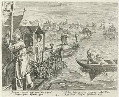 Piamon Diocles As A Hermit, Johann Sadeler Art Print by Johann Sadeler I And Rapha?l Sadeler I And Maerten De Vos