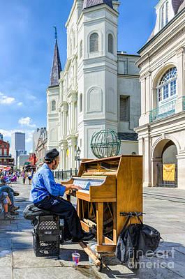 Photograph - Pianist Of Jackson Square - Nola by Kathleen K Parker