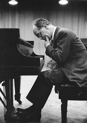 Pianist Rudolf Serkin Art Print by Underwood Archives