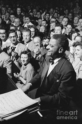 Piano Photograph - Pianist Teddy Wilson With The Benny Goodman Orchestra by The Harrington Collection