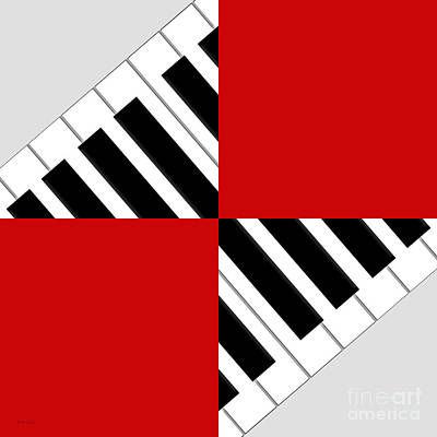 Digital Art - Piano Abstract 1 by Andee Design