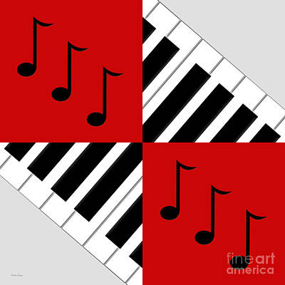 Digital Art - Piano Abstract 4 by Andee Design