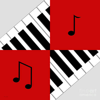 Digital Art - Piano Abstract 5 by Andee Design