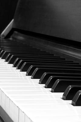 Piano Photograph - Piano At Rest - Bw by Mark McKinney