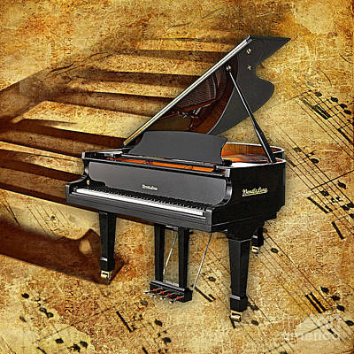 Piano Mixed Media - Piano Collection. by Marvin Blaine