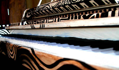 Photograph - Piano In The Dark - Music By Diana Sainz by Diana Raquel Sainz