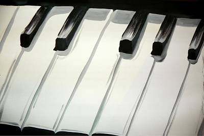 Painting - Piano Keys by Marisela Mungia
