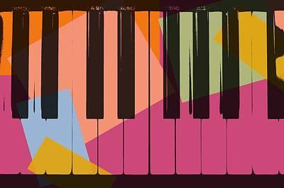 Digital Art - Piano Keys Pop Art by Dan Sproul
