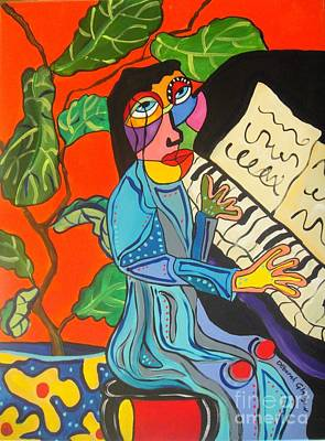 Painting - Piano Lady by Deborah Glasgow