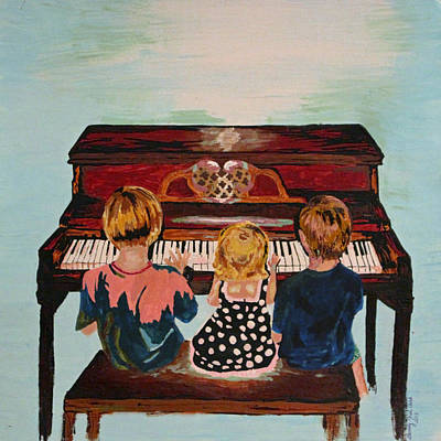 Piano Lesson Art Print by Brandy Nicole Neal