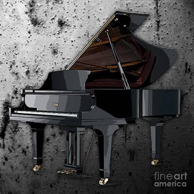 Piano Digital Art - Piano by Marvin Blaine