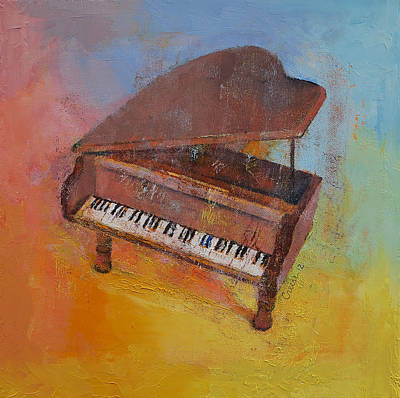 Grand Piano Painting - Toy Piano by Michael Creese