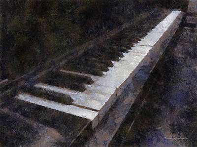 Piano Photo Art 01 Art Print by Thomas Woolworth