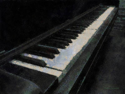 Piano Photo Art 02 Art Print by Thomas Woolworth