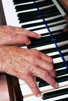 Piano Playing Art Print by Jerry Mason/science Photo Library