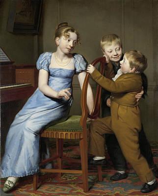 Practice Gallery Drawing - Piano Practice Interrupted, Willem Bartel Van Der Kooi by Quint Lox