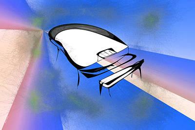 Piano Print by Rick Thiemke