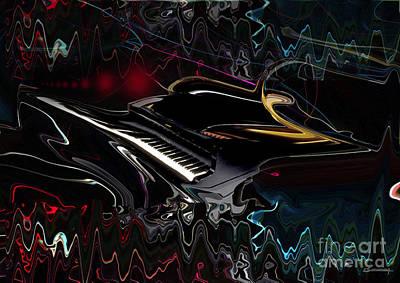Piano Sound Art Print by Christian Simonian