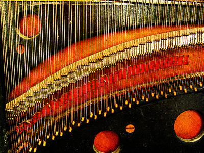 Grunge Photograph - Piano Strings by Randi Kuhne