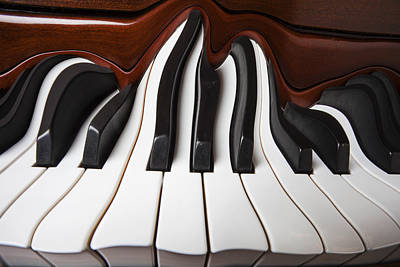 Keyboards Photograph - Piano Wave by Garry Gay