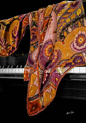 Piano With Scarf Art Print by Madeline Ellis