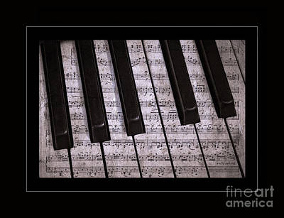 Old Sheet Music Photograph - Pianoforte Classic by John Stephens