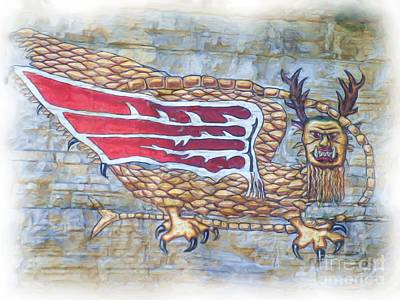Art Print featuring the photograph Piasa Bird In Oils by Kelly Awad