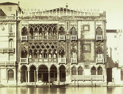 Piazza Ca Doro Sul Canal Grande Venice Italy Art Print