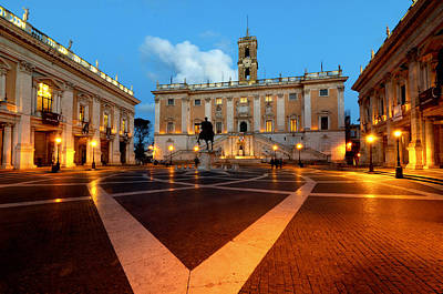Capitoline Photograph - Piazza Del Campidoglio by Fabrizio Troiani